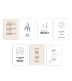 Voordeelset - 7 Ansichtkaarten kerst