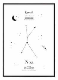 Sterrenbeeld poster - Kreeft