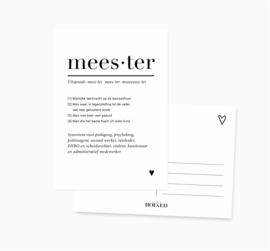 Ansichtkaart    Meester