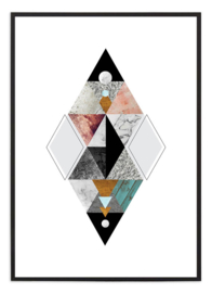 Poster - Grafische triangles