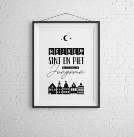 Gepersonaliseerde Sint poster