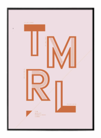 Familieposter - Oud roze