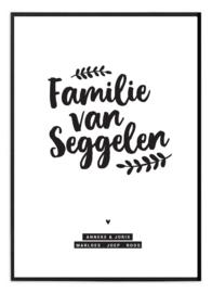 Familieposter - Familienaam