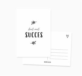 Ansichtkaart    Heel veel succes