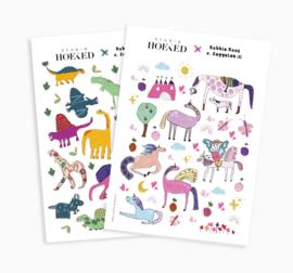 Stickervel || Dino's & Eenhoorns || set