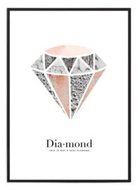 Poster - Diamond licht roze