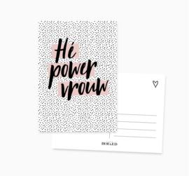 Ansichtkaart    Power vrouw    A6