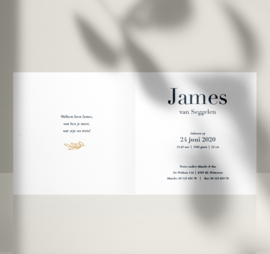 Geboortekaartje | Jongens | Letter