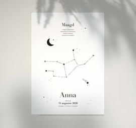 Sterrenbeeld poster - Maagd