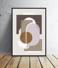 A3 Poster - Marrakech  shapes - Beige