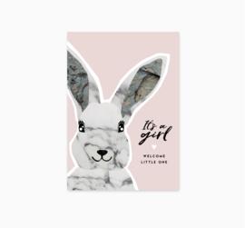 Ansichtkaart || It's a girl || A6