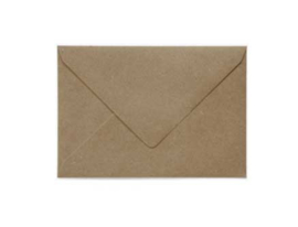 Gerecyclede kraft envelop  - 114 x 162 mm (A6)