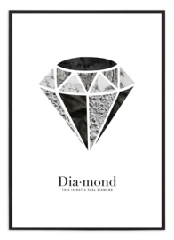 Poster - Diamond zwart