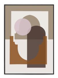 A3 Poster - Marrakech Zonsopgang - Beige