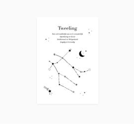 Ansichtkaart || Sterrenbeeld || Tweeling