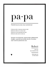 Familieposter - PAPA