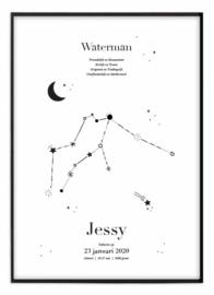 Sterrenbeeld poster - Waterman