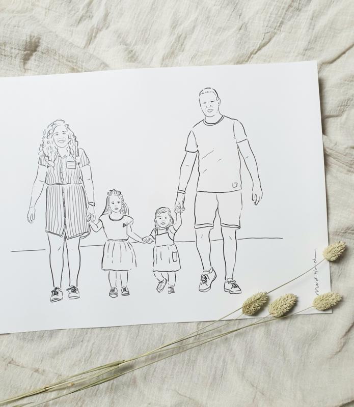 Portret illustratie | 3 tot 5 personen