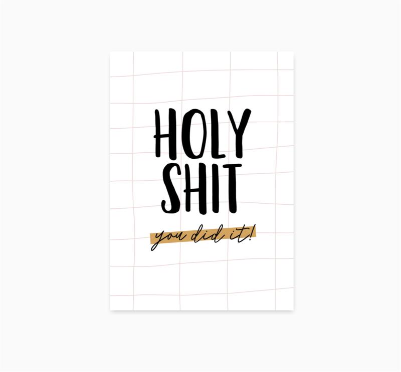 Ansichtkaart || Holy Shit || A6