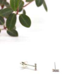 Three dots earrings // 925 Sterling silver