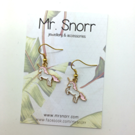 Unicorn earrings // pink