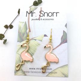 Flamingo earrings // light pink