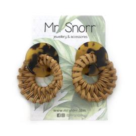 Rotan earrings // Leopard