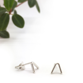 Triangle earrings // 925 Sterling silver