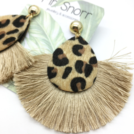 Leopard fringes // sunny yellow