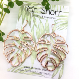 Monstera leaf earrings // gold