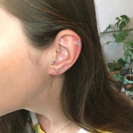 Mini moon earrings // 925 Sterling silver