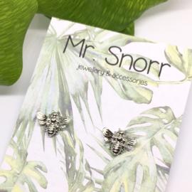 Sunny bee earrings // silver