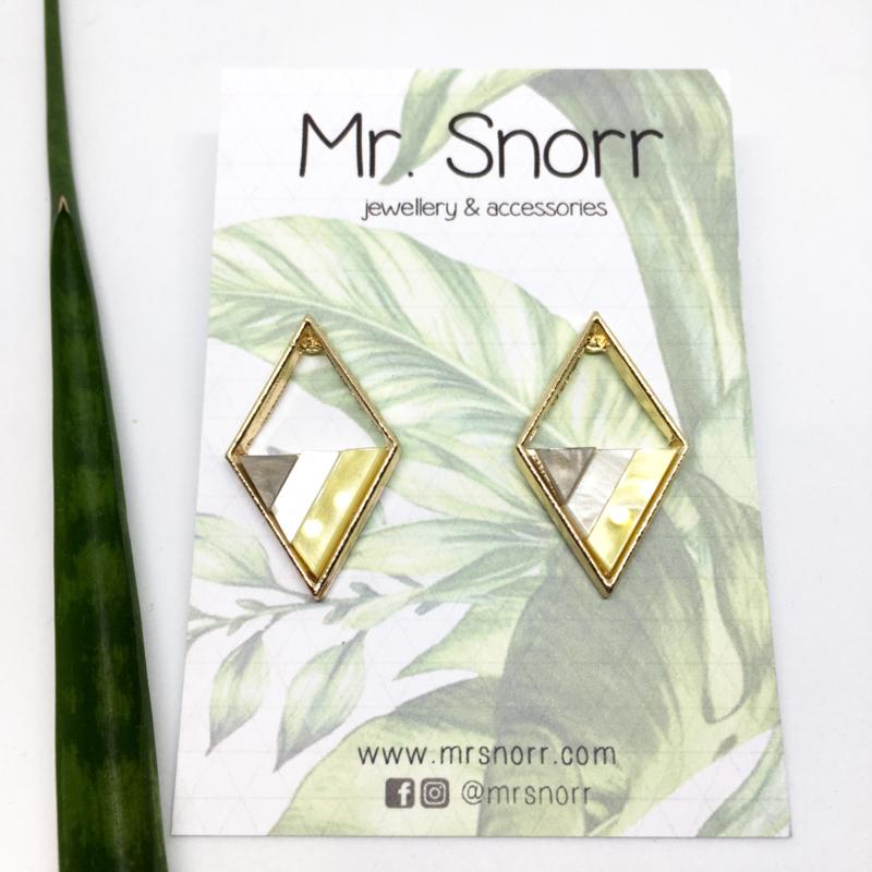 Open rhombus earrings