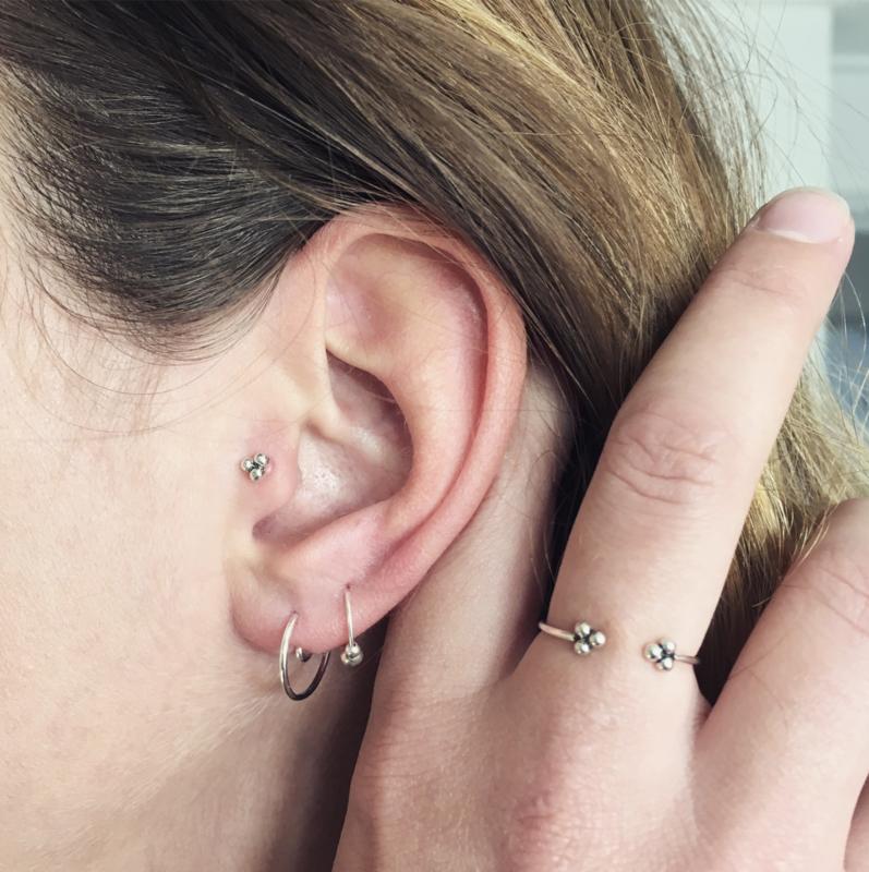 Minimalistische ring // zilver, goud of rosé