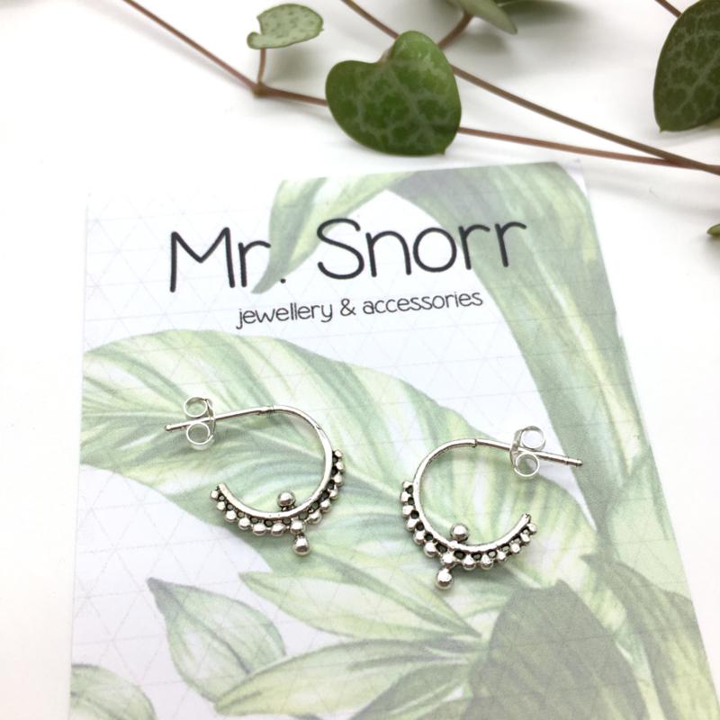 Dot hoops // 925 Sterling silver