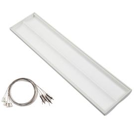 LED waves armatuur 120x30 38W + ophangsysteem