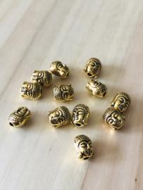 Goudkleurige 1 Buddha 9 mm hoog