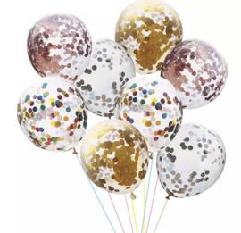 10x mix confetti ballonnen