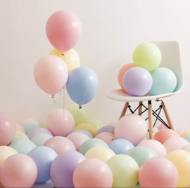 10x pastel ballonnen mix