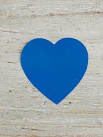 Sticker hart Blauw