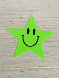 Sticker neon ster groen