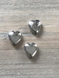 Zilveren hartjes 25 stuks