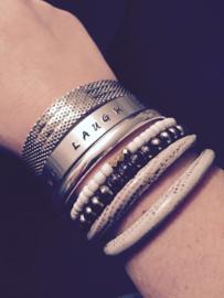 Metalen Slag Armband Aluminium