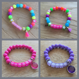 Naamarmband diverse kleurstellingen