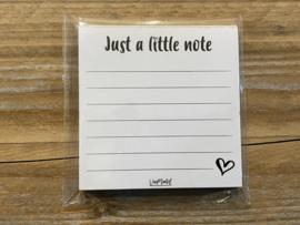 Just a little note blokje