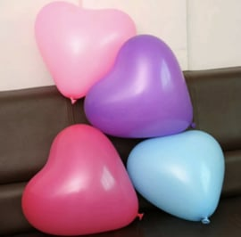 10 Delige set ballonnen hartjes