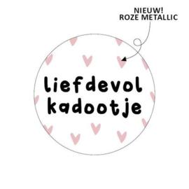 LIEFDEVOL KADOOTJE SLUITSTICKER