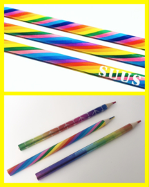 Rainbow potlood