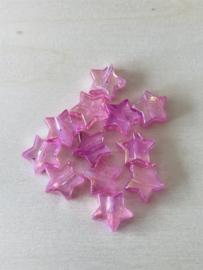 25 sterren 11x4mm Roze