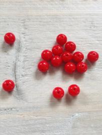 Acryl 8 mm 50 stuks rood